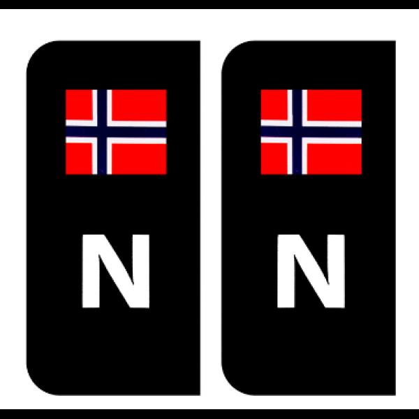 N-MERKE M/FLAGG SORT TIL BIL PR PAR