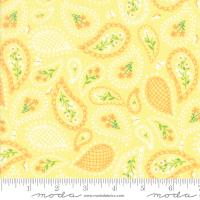 Sunday picnic yellow paisley