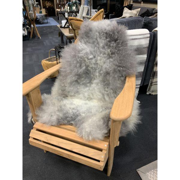 Saueskinn pelssau gråmelert