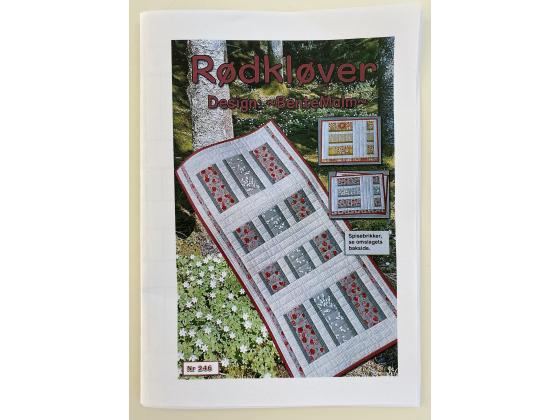 RØDKLØVER - LØPER OG 4 SPISEBRIKKER - Materialpakke