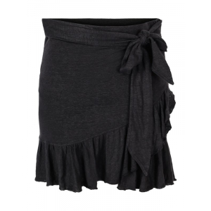 Juliette Linen Skirt Black