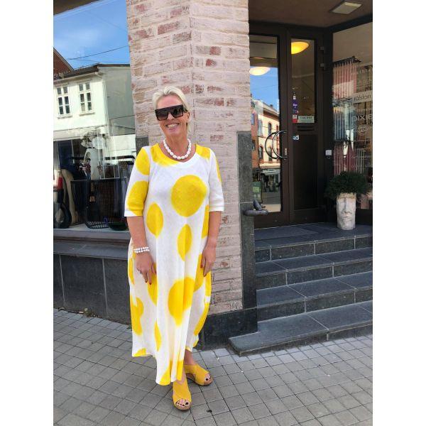 Ralston lang linkjole; hvit og gul