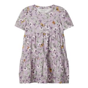 Jesmia kortermet kjole mini blomstret