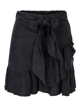 Julli Linen Skirt Black