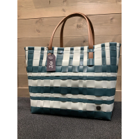 Lumberjack shopper blue green with misty grey