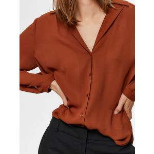 Korella skjorte rustrød
