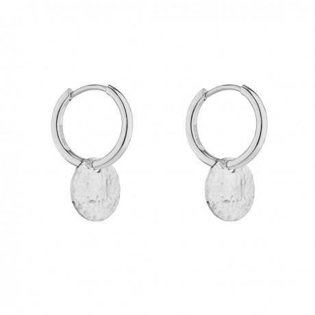 Devious small hoop earring steel