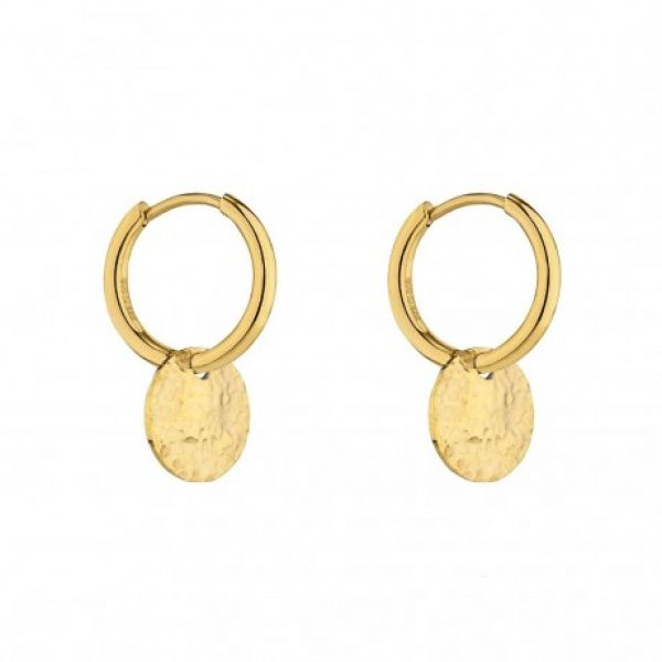 Devious small hoop earring gold