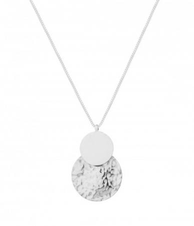 Capri long necklace steel