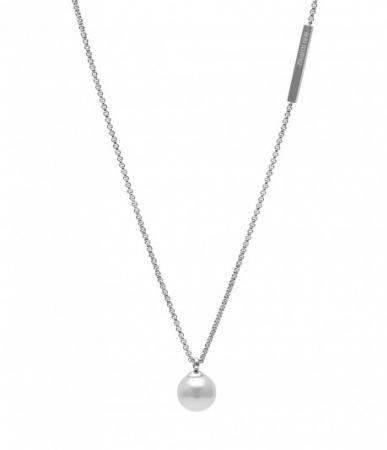 Pearl Long Necklace Steel