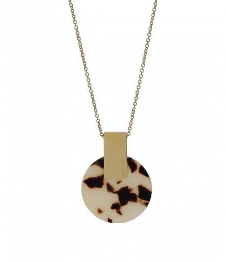 Saint Long Necklace Beige/Gold