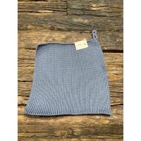 Grytelapp blå strikket