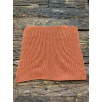 Klut strikket rustbrun
