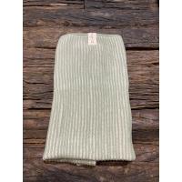 Håndklede strikket grønn og hvit Altum