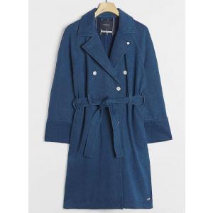 Ams Blauw indigo trench coat
