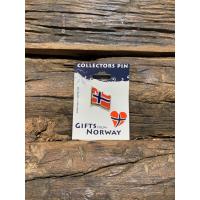 Pin norsk flagg