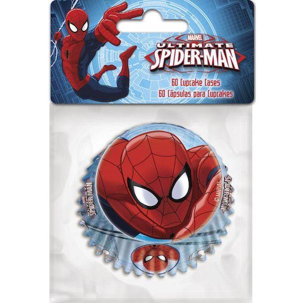 Muffinsform STD Spiderman, 60 stk