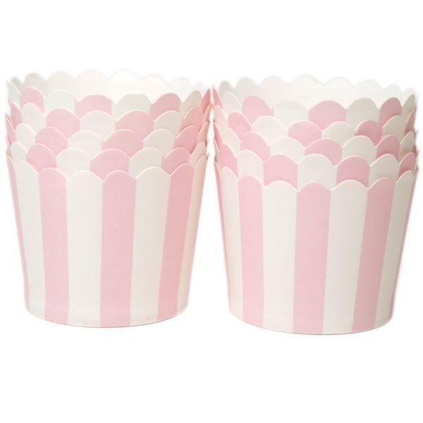 Muffinsform i papp STD, rosa, 20 stk