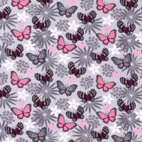Jersey sommerfugler på lys grå bunn