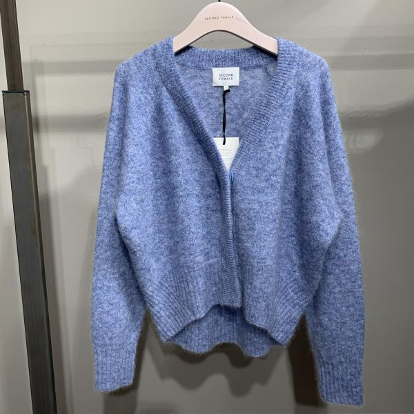 Brook Boxy Cardigan Blue