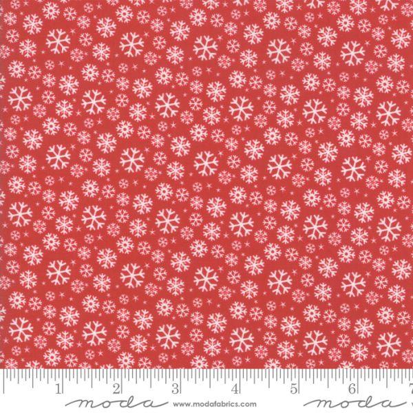 Jolly season flakes red