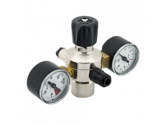 AGA Regulator med Flasketrykks manometer