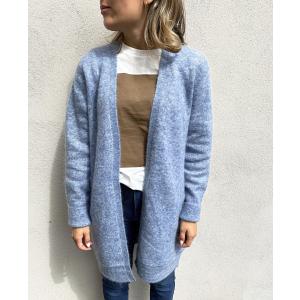 Brook knit new pocket cape - Blue Bonnet