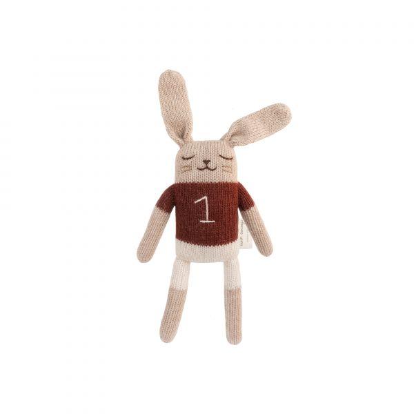 Main Sauvage - Bunny soft toy - Sienna shirt