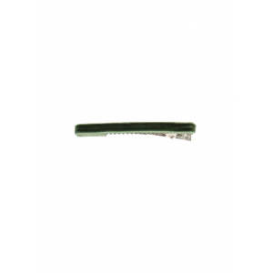 Bon Dep - Hårspenne - Thin velvet clip Bottle green - 2 stk