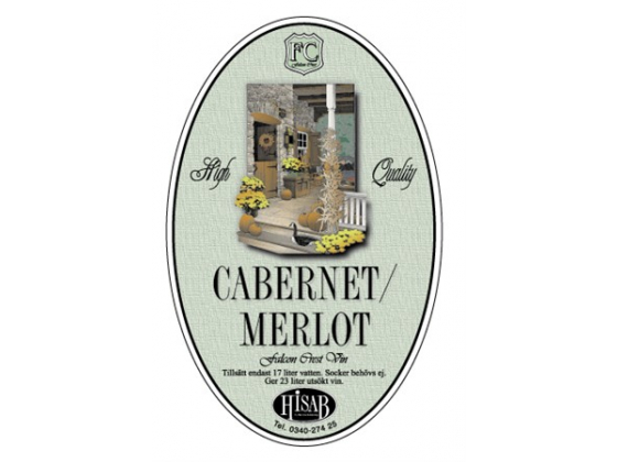Cabernet/Merlot Etiketter 25stk