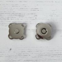 Magnetknapp sølv