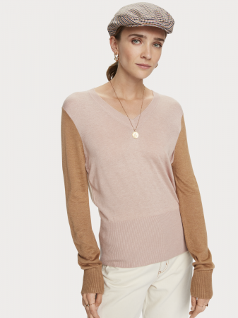 Light Knit W/ fitted production waist and V-neck