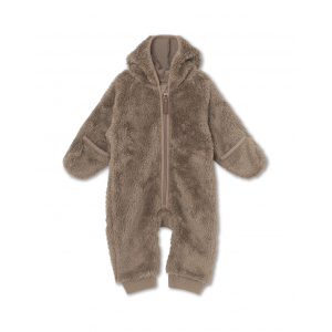 MINI A TURE - ADEL ROMPER TEDDY FLEECE TAUPE GREY