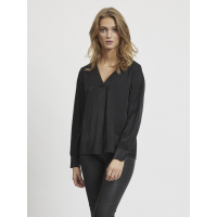 OBJEileen burnt black v-neck