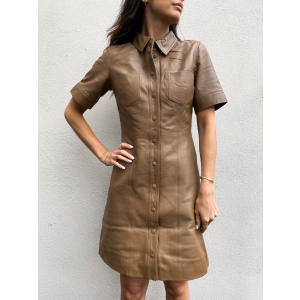 Livana Shirt Leather Dress