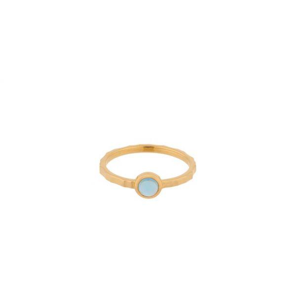 Shine ring blå topaz