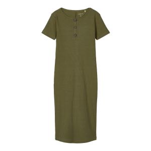 Ribsa kortermet lang kjole kids ribb
