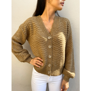 Betricia Knit Cardigan - Rubber