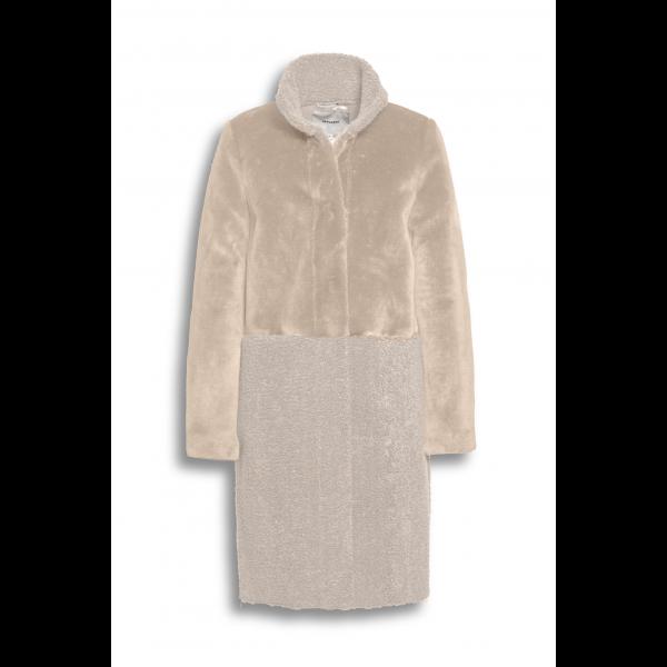 fur-wool mix coat
