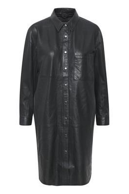 CrownKM Leather Dress