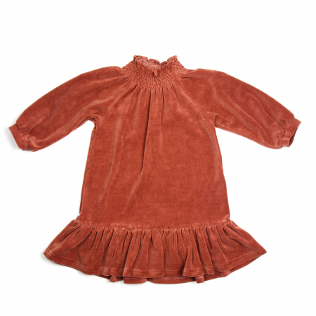 HUTTELIHUT - NOVA DRESS VELOUR ROSEWOOD