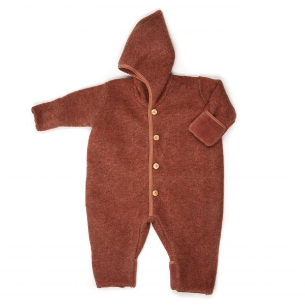 HUTTELIHUT - POOH SUIT DOUBLE LAYER WOOL ROSEWOOD