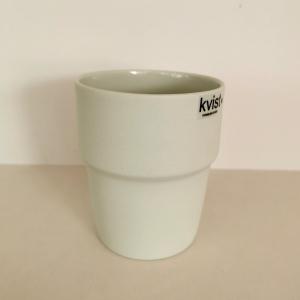 Kaffikopp - Kvist Porselen - Lysegrå
