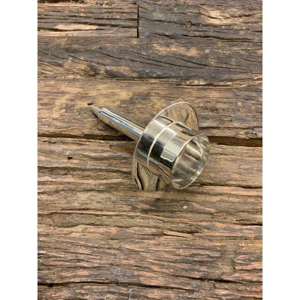 Telysholder for flaske sølv