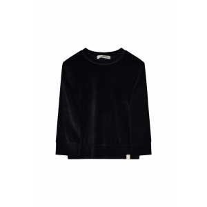 I DIG DENIM - ASH VELOUR SWEATER BLACK