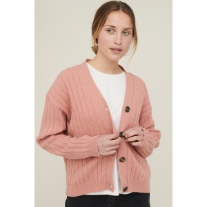 Line Cardigan rosa