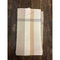 Kjøkkenhåndkle grått m/gul stripe