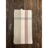 Kjøkkenhåndkle grått m/rød stripe