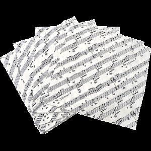 Små servietter med notelinjer