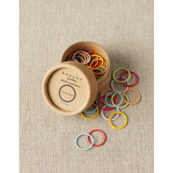 Colored Ring Stitch Markers Jumbo - CocoKnits